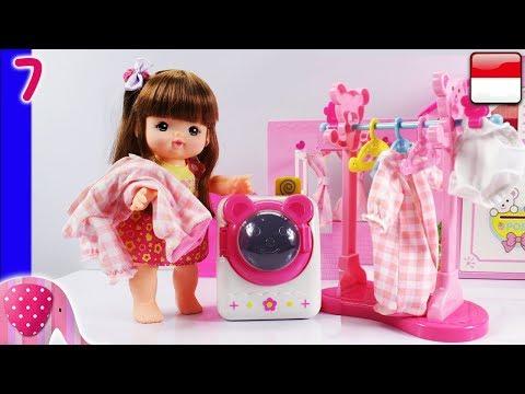 Mainan Boneka Eps 7 Paket Mesin Cuci dan Jemuran Unboxing - GoDuplo TV