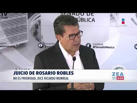 """Monreal pide evitar venganza en juicio de Rosario """"R""""   Noticias con Francisco Zea"""