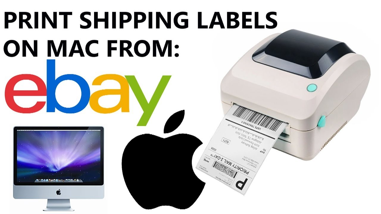 How to Print Shipping Labels on ebay com from Mac Apple Computer (TUTORIAL  GUIDE) - UPDATED 2019