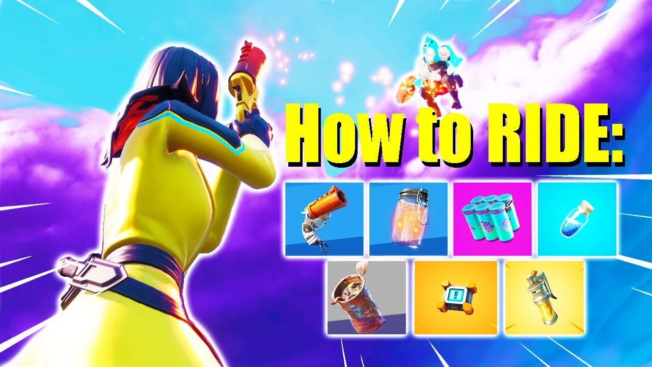 How to RIDE on EVERY Fortnite Item (Trickshotting Tutorial #3)