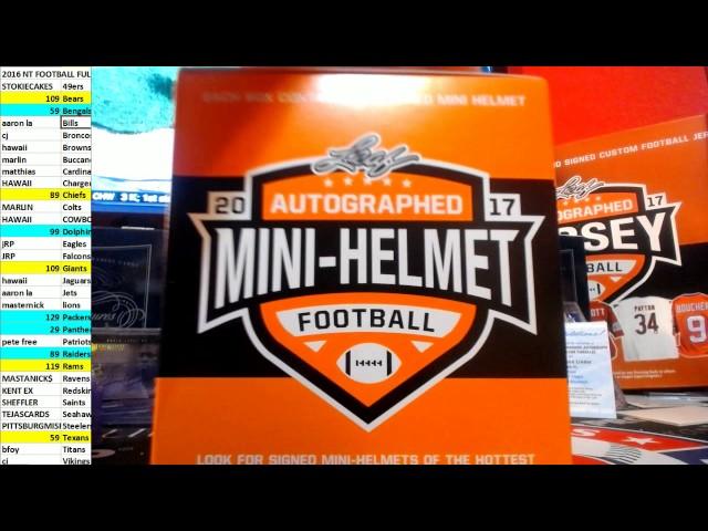 2017 LEAF MINI HLEMET 1 BOX EBAY BREAK #22