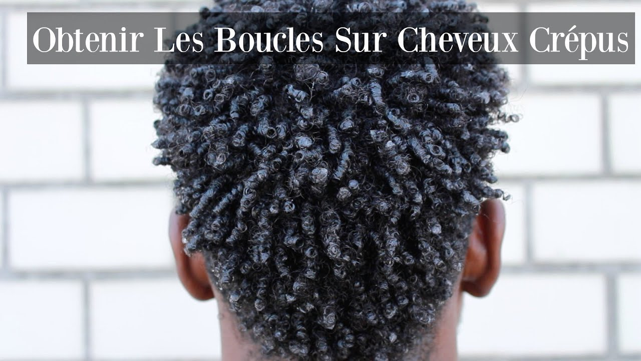 comment obtenir et definir les boucles sur cheveux cr pus cheveux hommes youtube. Black Bedroom Furniture Sets. Home Design Ideas