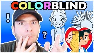 COLORBLIND ARTIST COLORS A PICTURE - Color Art Challenge