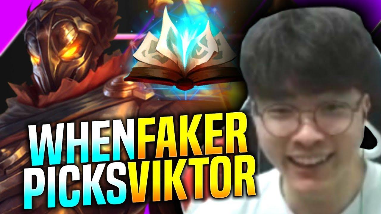 Faker Chilling with Viktor! - SKT T1 Faker Plays Viktor vs Zilean Mid!   Faker KR SoloQ Patch 9.22