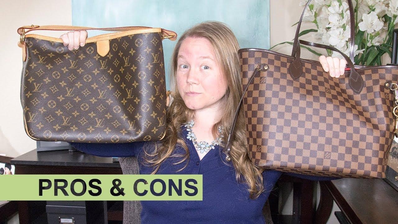 889a45493d6c Detailed COMPARISON  Louis Vuitton Neverfull vs Delightful