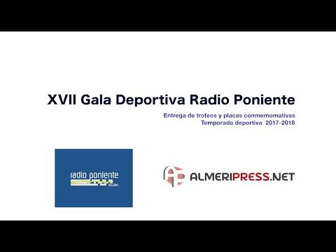 Gala del deporte XVII Radio Poniente