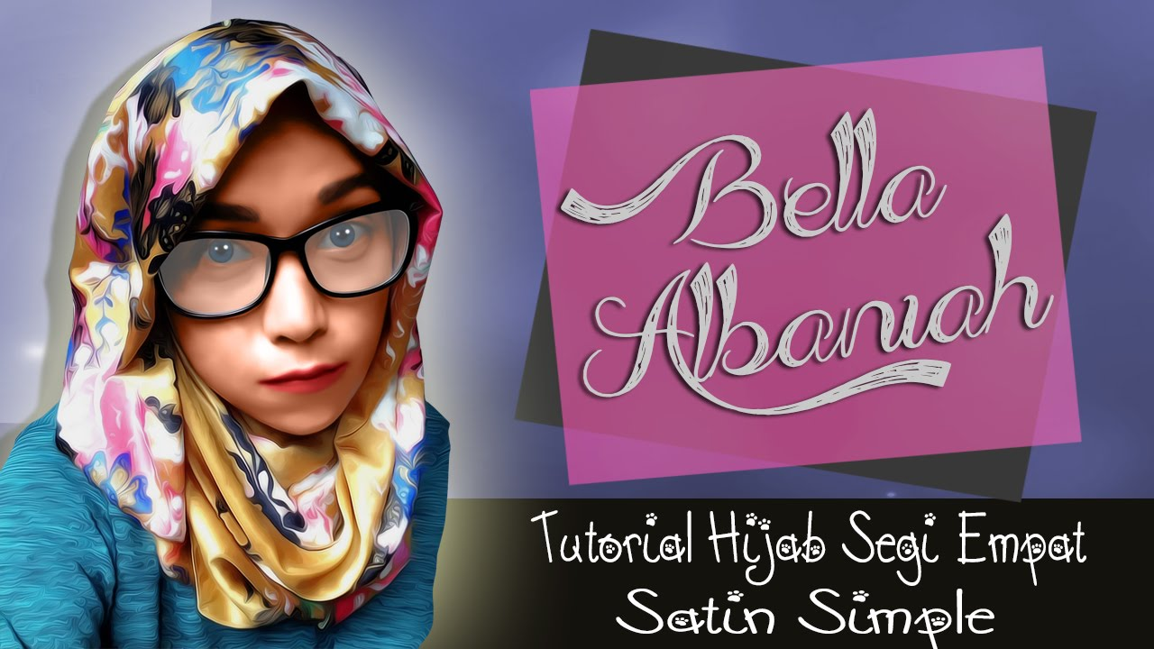 Tutorial Hijab Segi Empat Satin Simple Terbaru 2018 YouTube