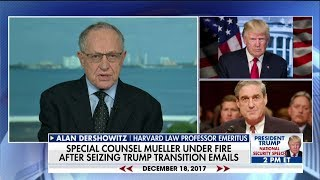 Dershowitz Says Mueller 'Playing Into Trump's Hands,' Should Have Obtained Warrant for Emails thumbnail