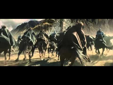 LOTR The Return of the King Gandalf the White & Nazguls