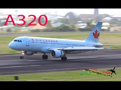 Air Canada A320 in action @ St. Kitts Robert L. Bradshaw Int'l Airport (Tower View)