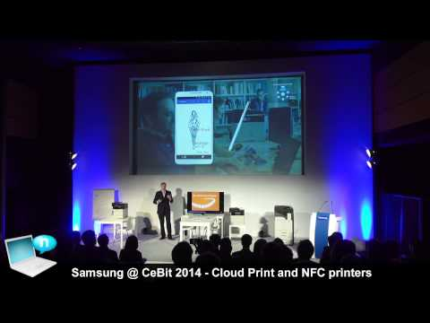 Samsung @ CeBIT 2014 - Cloud Print and NFC Printers (Xpress C1860 and M2885)