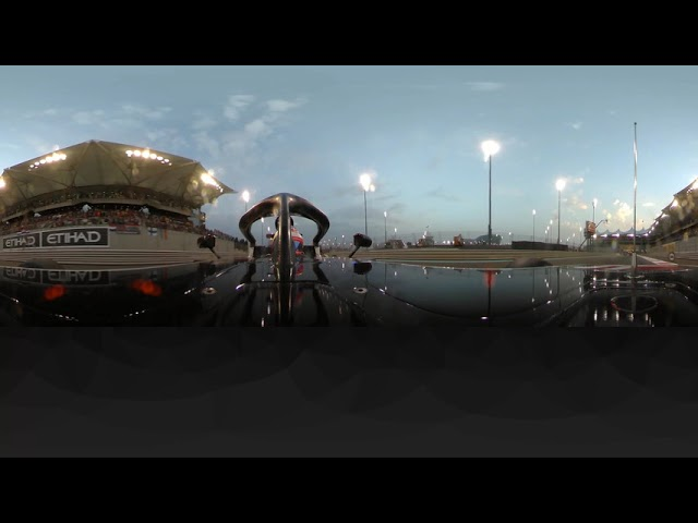 Hulkenberg Barrel Rolls Out of the Race (360 Video) | 2018 Abu Dhabi Grand Prix