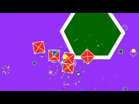 """【Flash Game】 """"Shape Shooter 2"""" 496300 score (reached 52nd wave) 