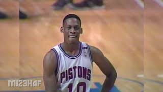 Pistons Team Show Their Frustration in 1991 ECF G4, Making Hard Fouls on the Bulls