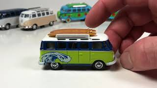 My Entire Collection of Greenlight Volkswagen Samba Busses