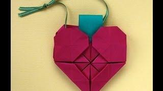 Origami Heart Ornament