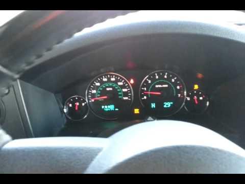 Jeep Commander Blinking Dash Board Lights