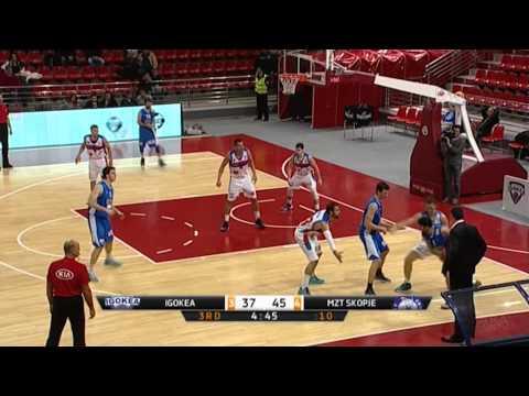 ABA Liga 2014/15, Round 09 match: Igokea - MZT Skopje Aerodrom