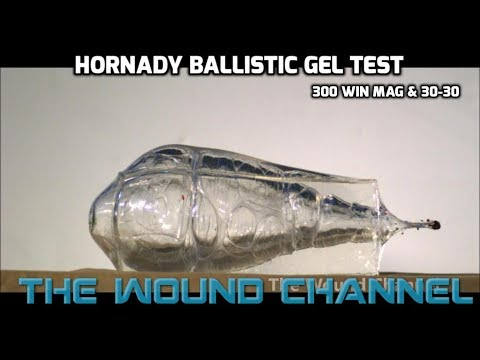 Incredible Ballistic Gel Test!!   **Hornady 300 Win Mag & 30-30**