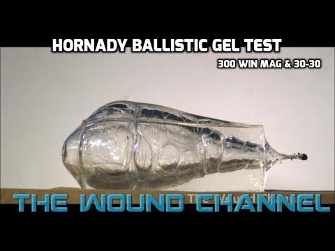Incredible Ballistic Gel Test!! **Hornady 300 Win Mag & 30-30**