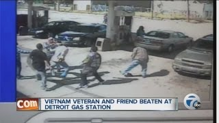 Vietnam veteran and friend beaten at Detroit gas station