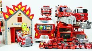 소방차 장난감 뽀로로 소방관 출동 소방서 놀이 불자동차 Fire Truck Toys and Fire engine Station Car