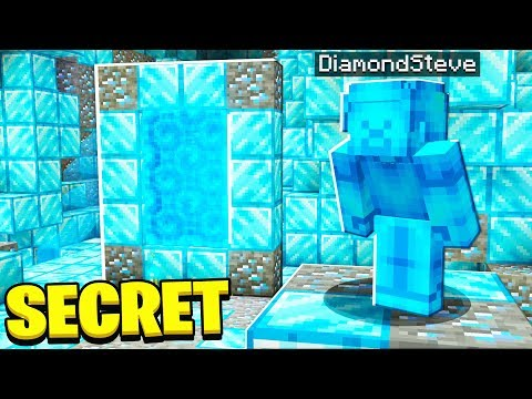 FOUND SECRET Diamond Steve MINECRAFT Portal!