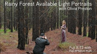 Rainy Forest Natural Light Shoot with Olivia Preston