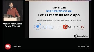 Build an Ionic App in 45 minutes (or less)