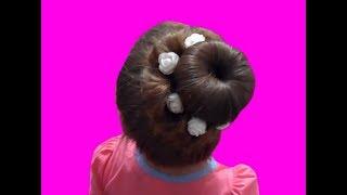 видео Красивая шляпка для девочки с длинными волосами