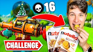 Ogni KILL MANGIO un BISCOTTO ALLA NUTELLA!! Challenge Fortnite *FINITA MALE*