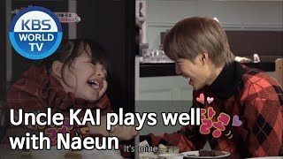 Uncle KAI plays well with Naeun [The Return Of Superman]