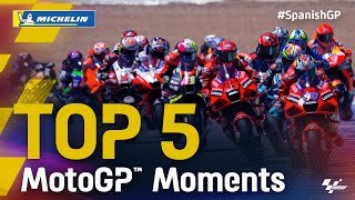 Top 5 MotoGP™ Moments by Michelin | 2021 #SpanishGP