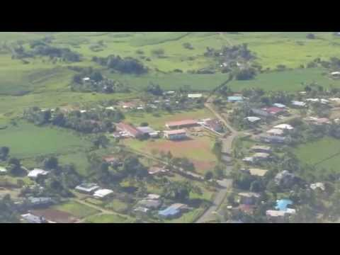 Landing Nadi International Airport NAN Fiji Fidschi Island Korean Air HL7554 Airbus A330