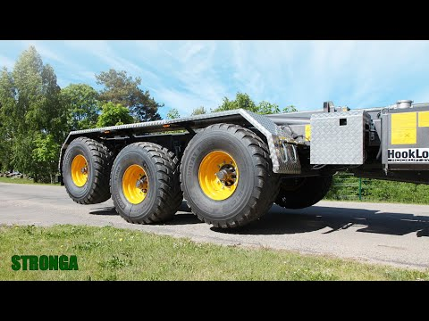 Stronga HookLoada HL260T XL – Class-leading hook trailer with hydraulic suspension