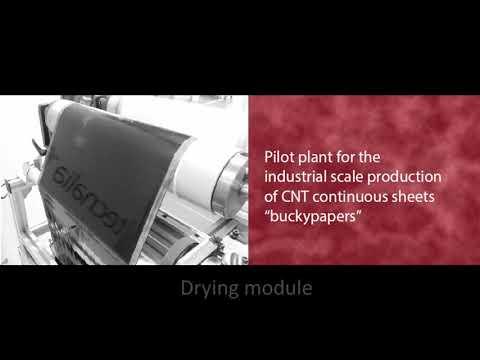 <p>Producción a escala industrial de hojas continuas de CNT, PLATAFORM (inglés)</p>