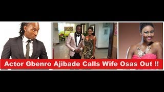 Social Media Drama  Popular Actor Gbenro Ajibade Calls Wife Osas Ighodaro  Out On Instagram