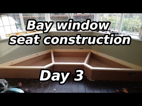 Bay window seat construction - day 3 Time consuming mitres