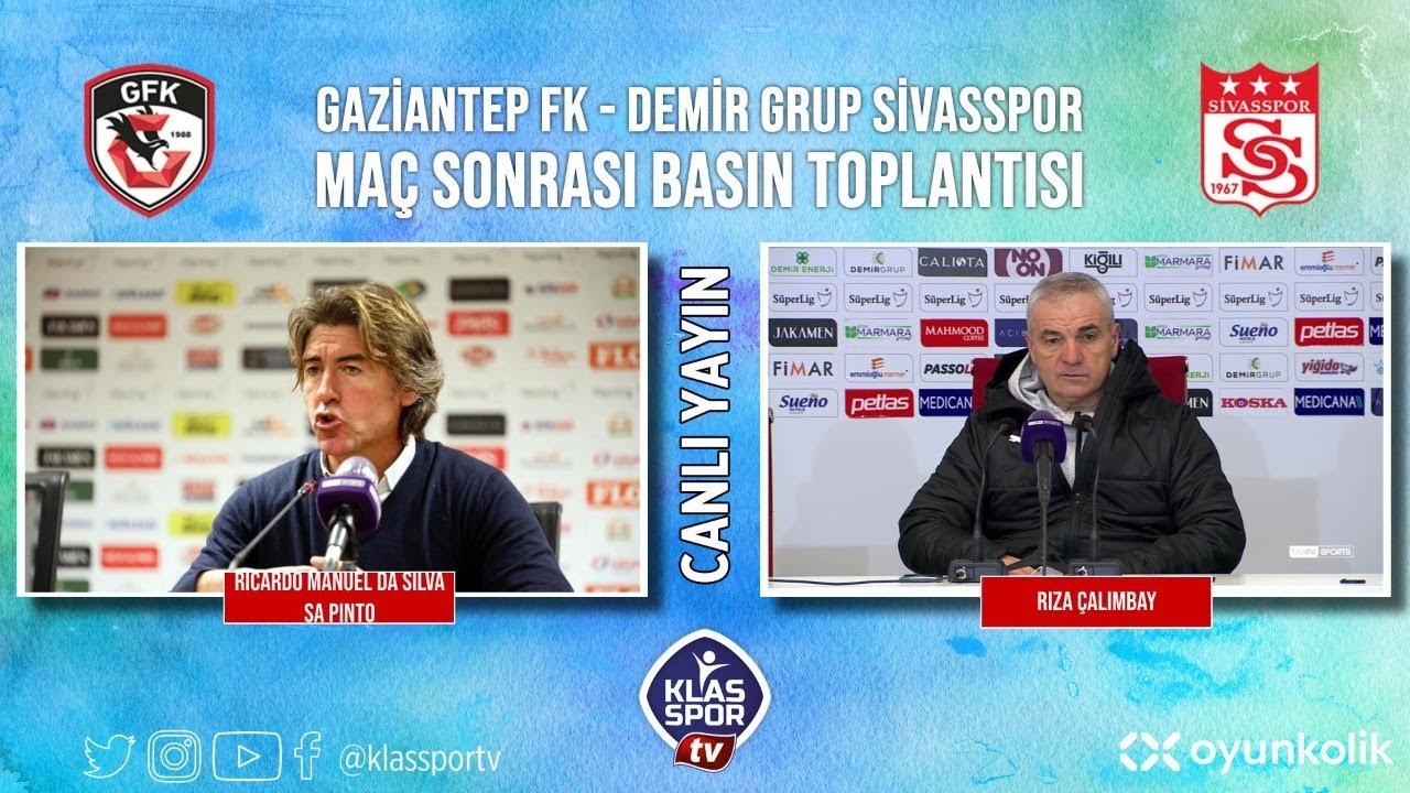Gaziantep F.K.- Sivasspor Basın Toplantısı ᴴᴰ (CANLI)