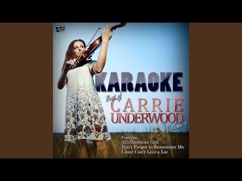 Flat On The Floor (In The Style Of Carrie Underwood) (Karaoke Version)