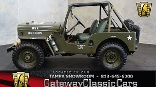 742 TPA 1962 Willys CJ3B 4 Cylinder 3 Speed Manual