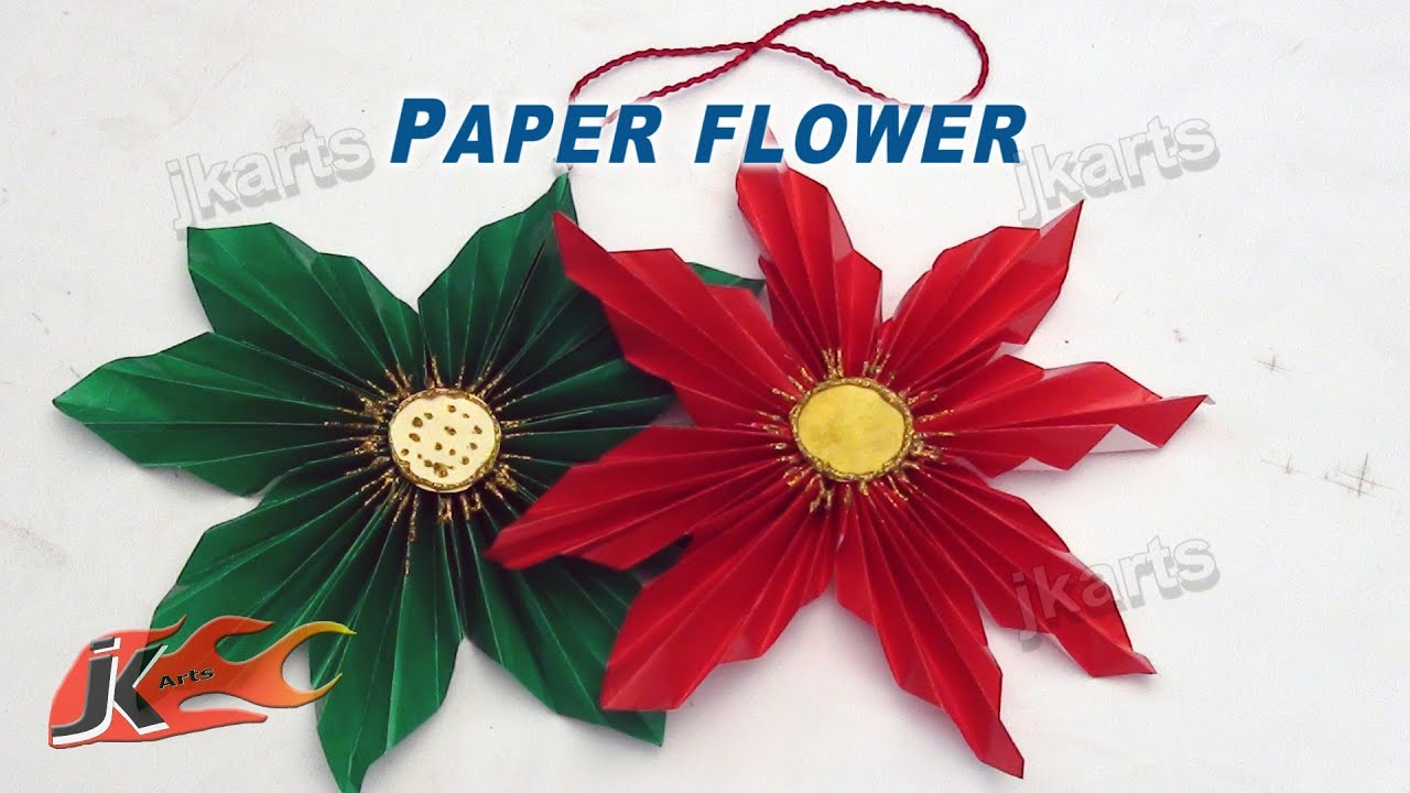 DIY How To Make Easy Paper Flower JK Arts 122 YouTube