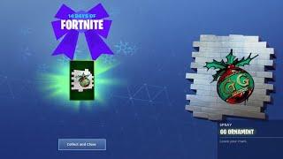 Fortnite 14 days of christmas day 1 rewards