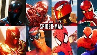 Spider-Man Ps4 - All 40 Suits Unlocked! Complete Showcase!