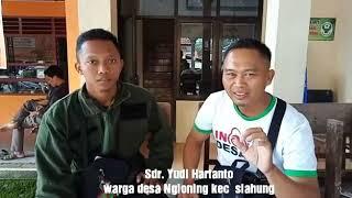 Pemuda desa Ngloning menolak hoax