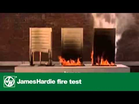 James Hardie Board Siding Fire Test Vs Vinyl Amp Wood