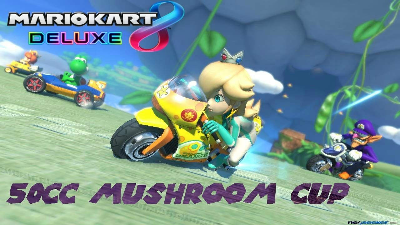 mario kart 8 deluxe 50cc mushroom cup grand prix rosalina gameplay youtube. Black Bedroom Furniture Sets. Home Design Ideas