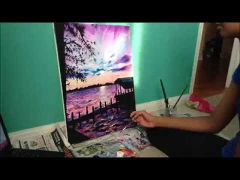 Painting a Sunset (Time Lapse)
