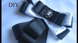 Брошь-галстук из репсовых лент DIY. Как сделать брошь -галстук