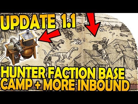 UPDATE 1.1 w/ HUNTER FACTION BASE CAMP + NEW RECIPE INBOUND - Last Day on Earth Jurassic Survival